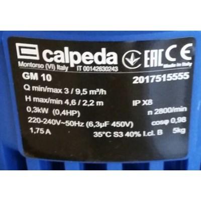 ปั๊มแช่ดูดน้ำ calpeda GM 10